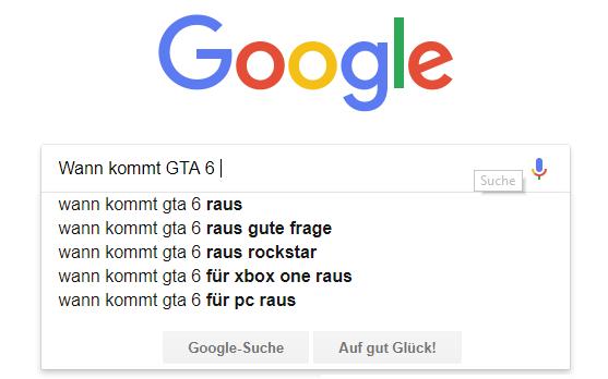 GTA 6 in der Google Suche
