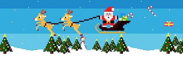 Weihnachts-Retro-Game