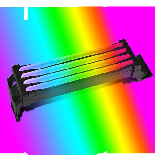 TT Pacific R1 Plus, Cache mémoire RGB pour module de mémoire DDR4 prenant en charge les cartes mères avec 4 canaux DIMM