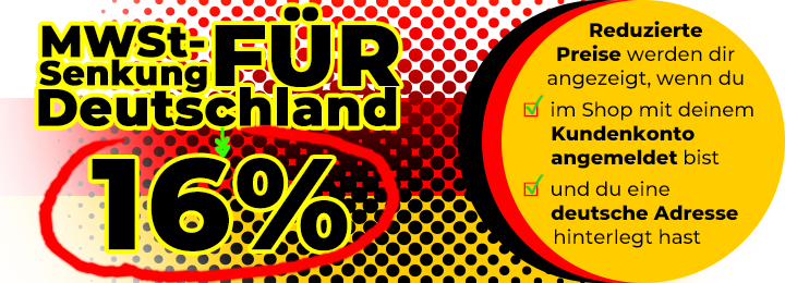 Banner VAT 16% Germany