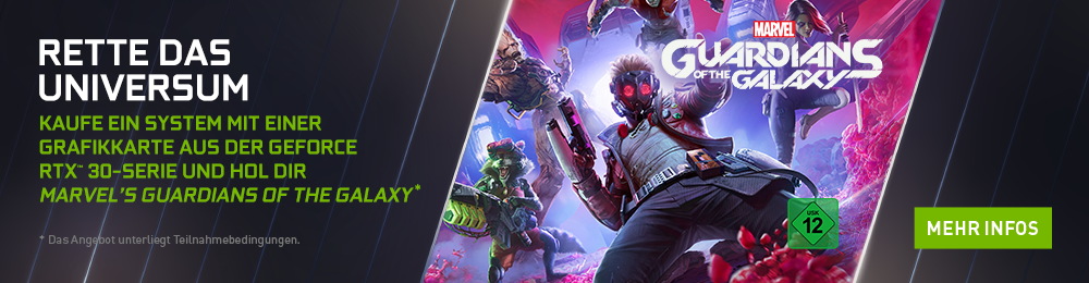 Banner Nvidia Marvel's of the Galaxy