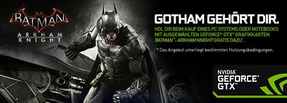 Banner NVIDIA Batman/Witcher