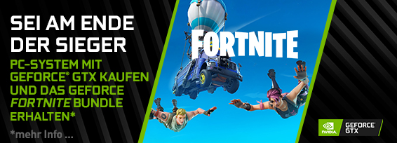 Banner NVIDIA GeForce GTX Fortnite Bundle