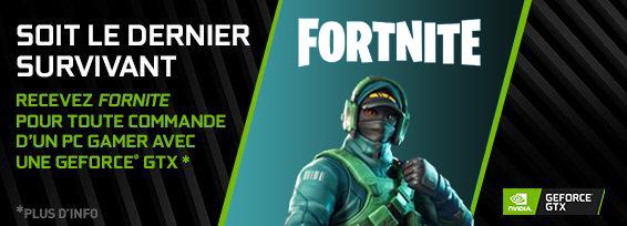 Banner NVIDIA GeForce GTX Fortnite Bundle