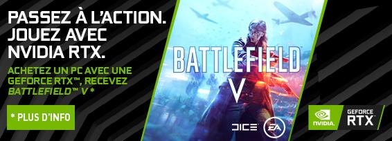 Banner NVIDIA GF RTX Battlefield 5 Bundle