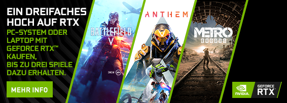 Banner NVIDIA RTX - Triple Threat Bundle