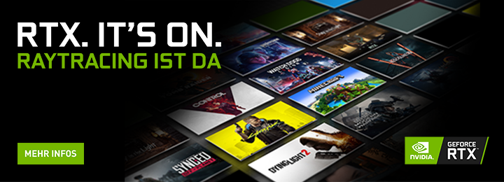 Banner NVIDIA® RTX.It's On. RAYTRACING