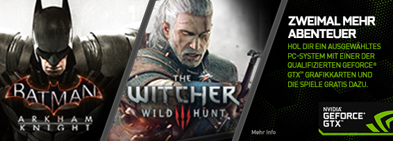 Banner NVIDIA Batman/Witcher