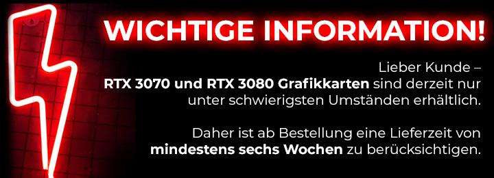 Banner RTX Versandverzögerung
