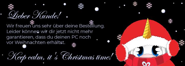 Banner Weihnachten Versandverzögerung